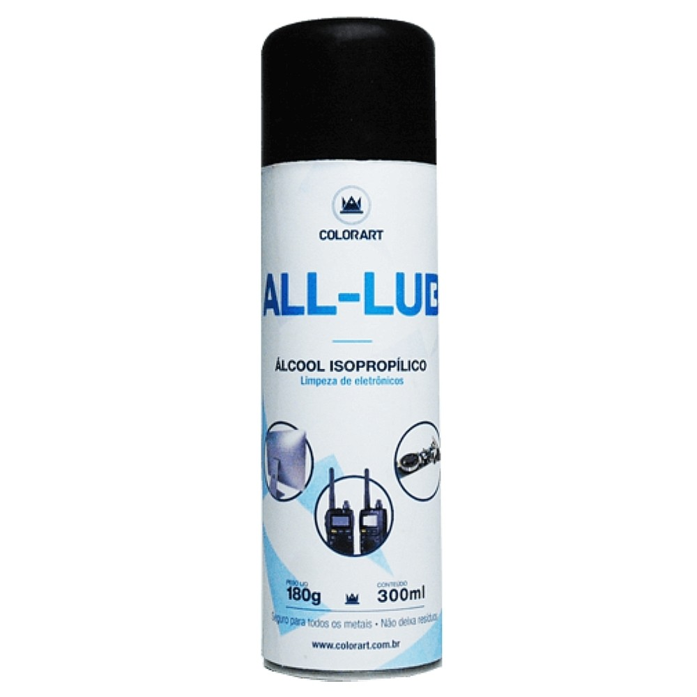 Spray Limpador Eletrônico Álcool Isopropílico All-Lub Colorart 300ml