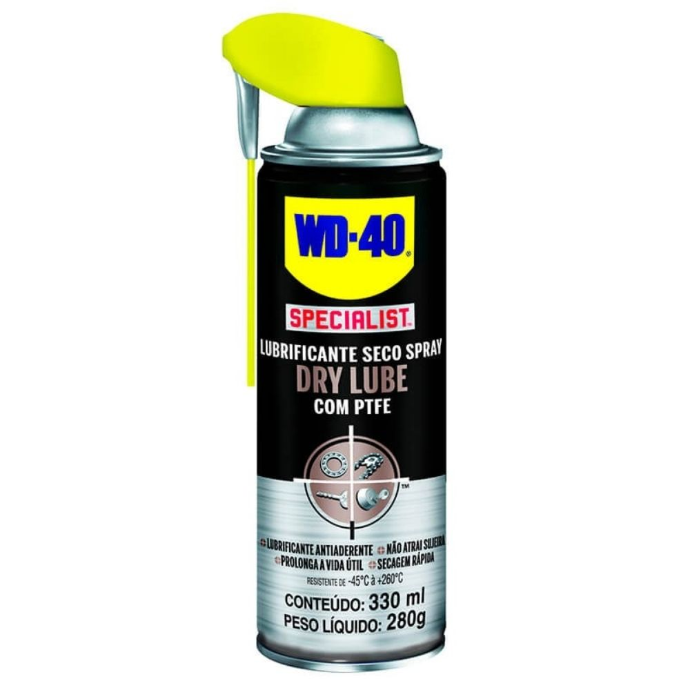 Spray Lubrificante Dry Lube com PTFE WD-40 400ml