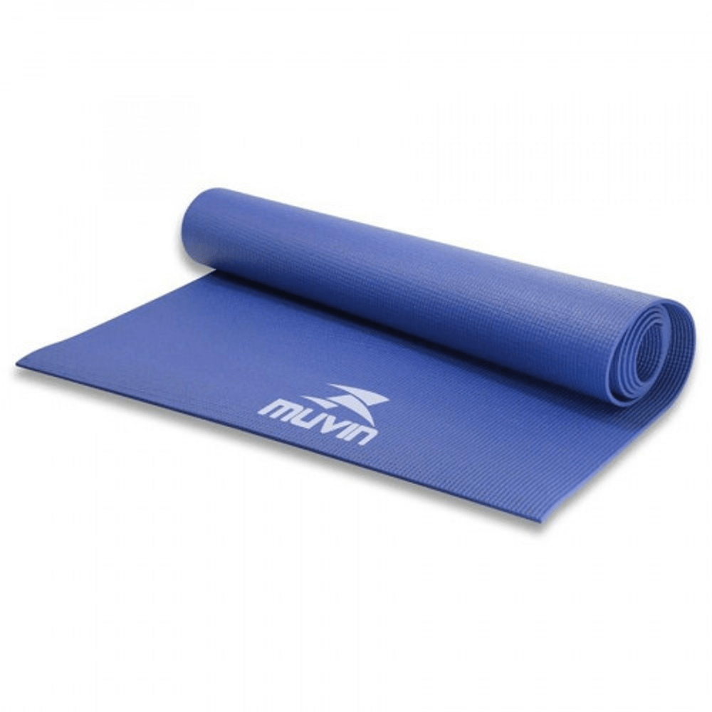 Tapete para Yoga em PVC Muvin 168cm X 61cm X 40mm Azul
