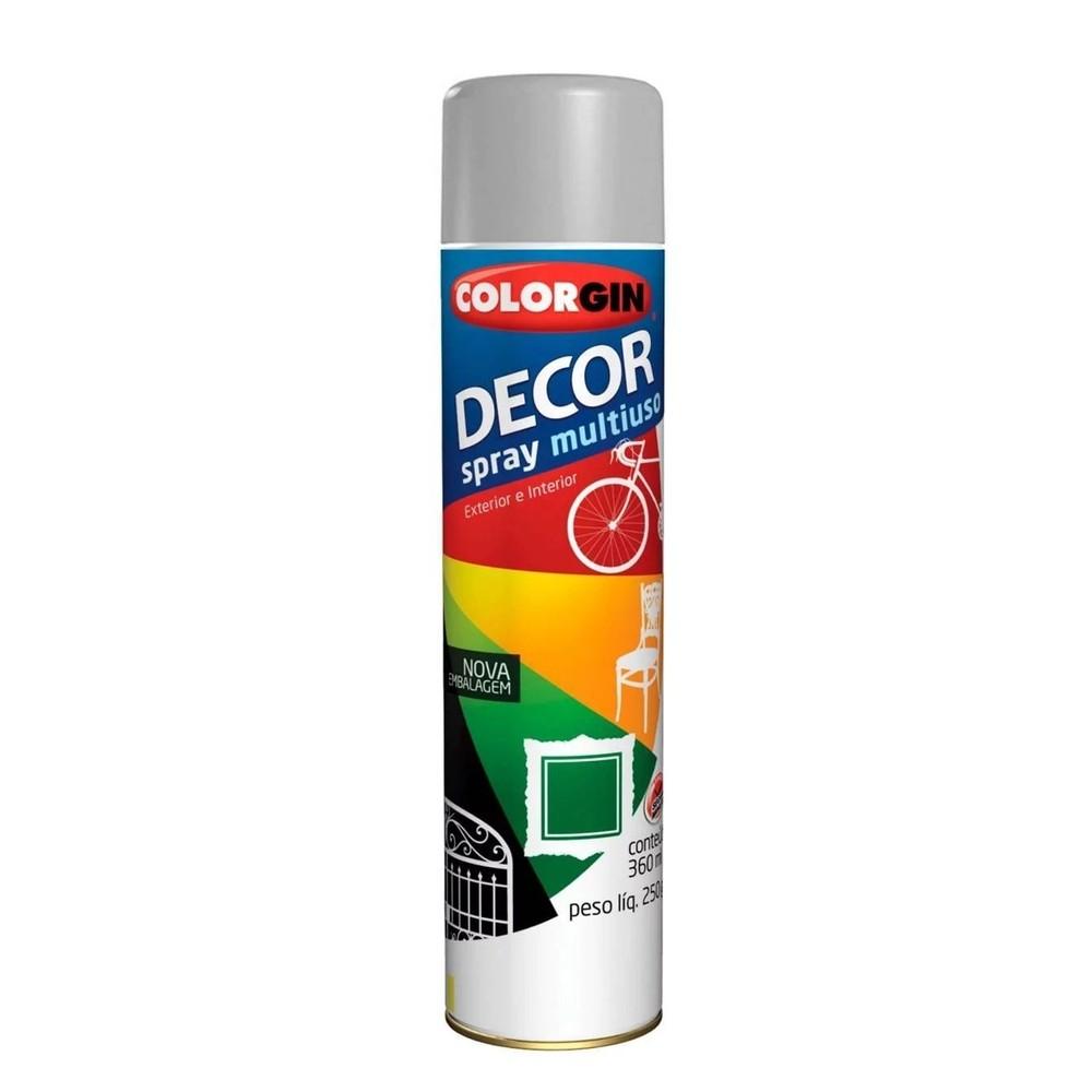Tinta em Spray Colorgin 360ml Alumínio