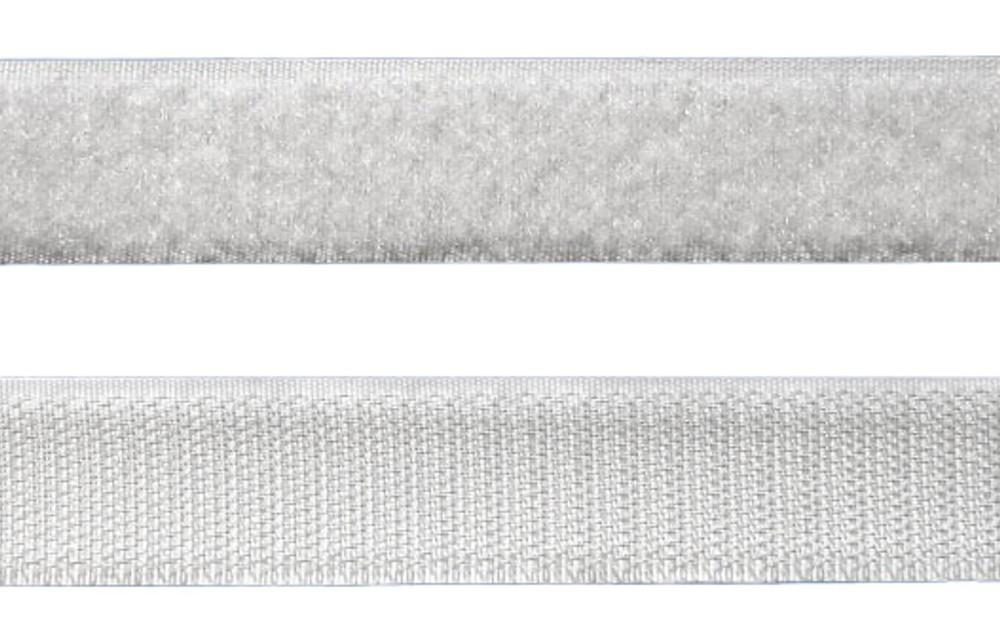 Tira de Contato Adesivo Fêmea + Macho Velfix 25mm X 1m Branca  - Casa do Roadie