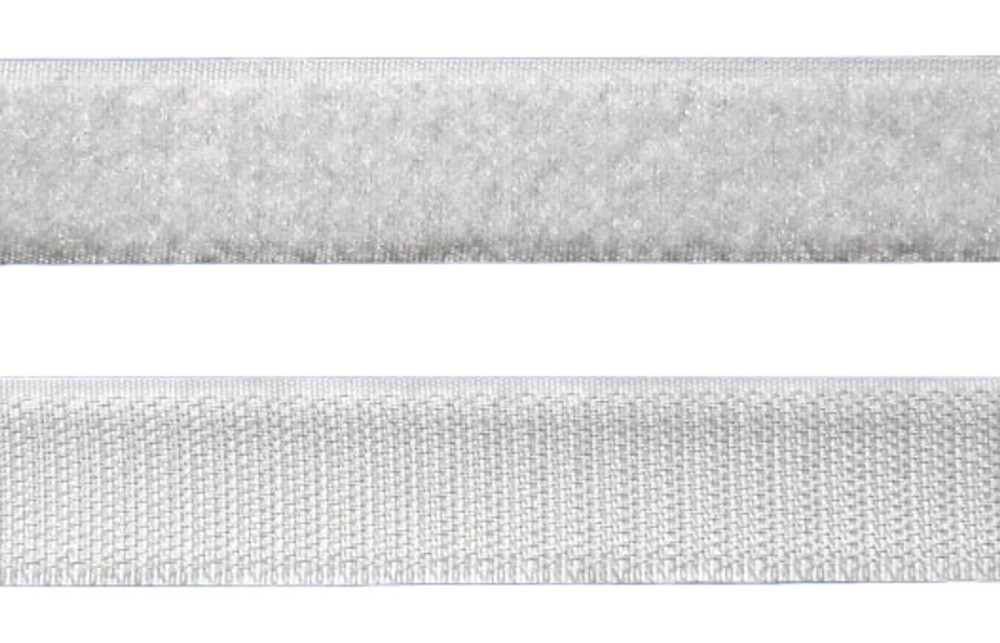 Tira de Contato Adesivo Fêmea + Macho Velfix 50mm X 1m Branca  - Casa do Roadie