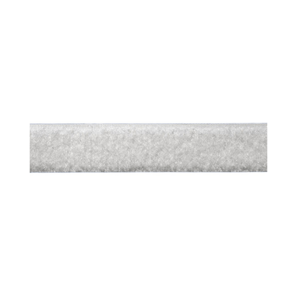 Tira de Contato Adesivo Fêmea Velfix 25mm X 1m Branca