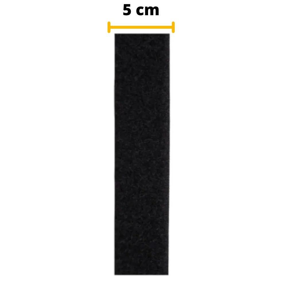 Tira de Contato Adesivo Fêmea Velfix 50mm X 1m Preta