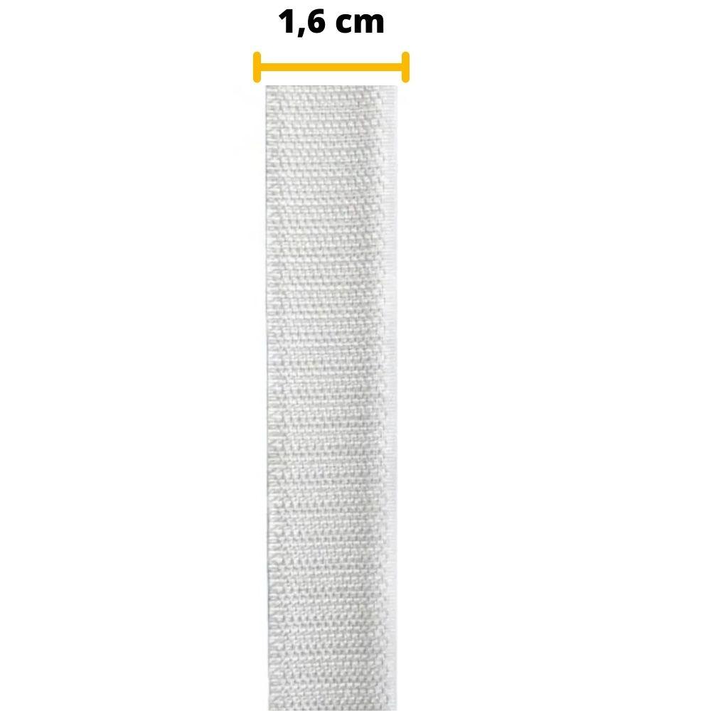 Tira de Contato Adesivo Macho Velfix 16mm X 1m Branca