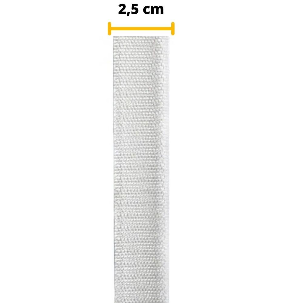 Tira de Contato Adesivo Macho Velfix 25mm X 1m Branca
