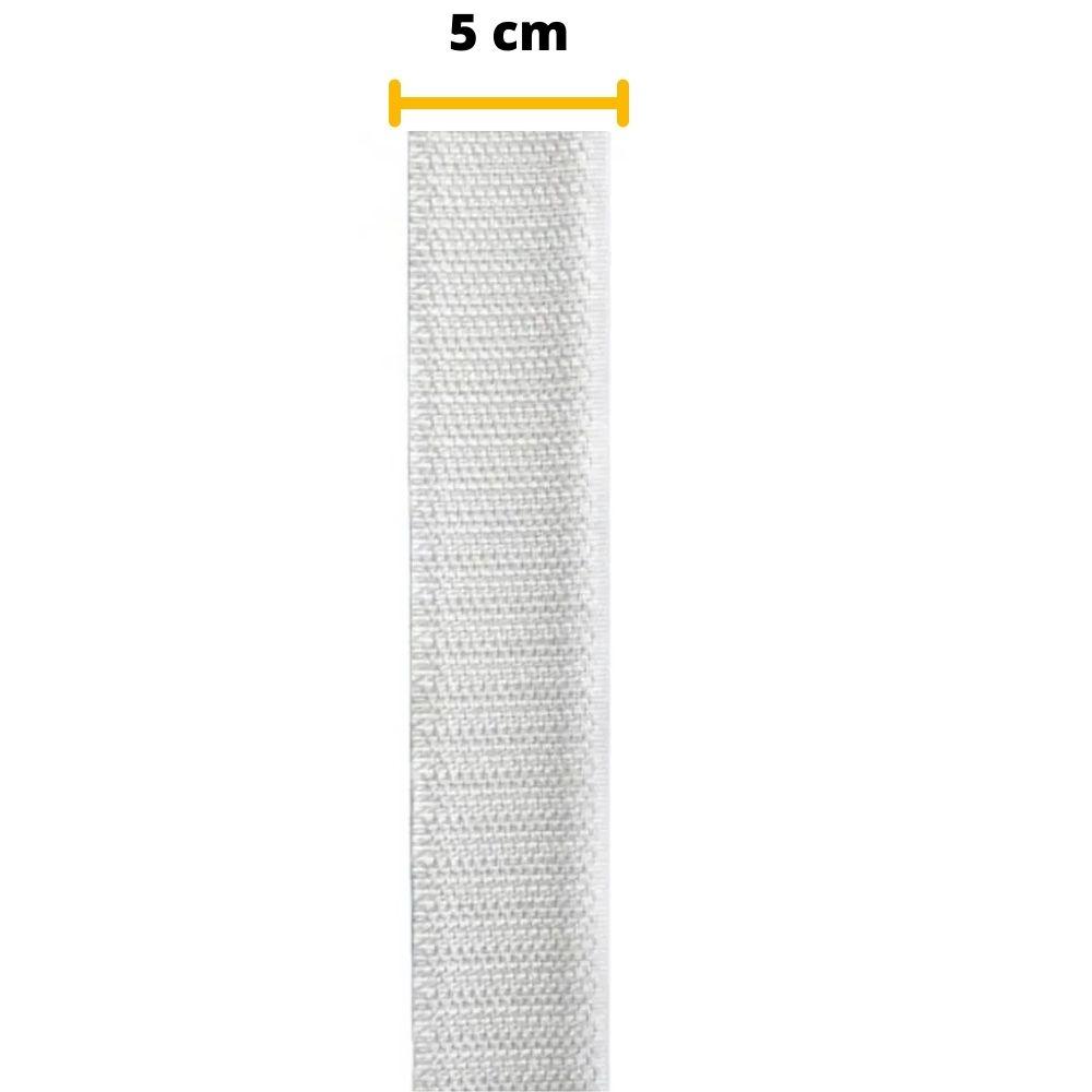 Tira de Contato Adesivo Macho Velfix 50mm X 1m Branca