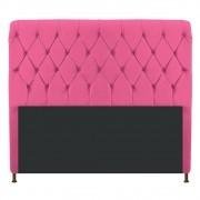 Cabeceira Estofada Cristal 140 cm Casal Com Capitonê Corano Pink - ADJ Decor