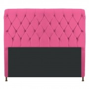 Cabeceira Estofada Cristal 160 cm Queen Size Com Capitonê Corano Pink - ADJ Decor
