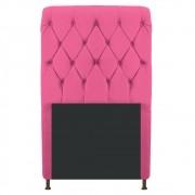 Cabeceira Estofada Cristal 90 cm Solteiro Com Capitonê Corano Pink - ADJ Decor