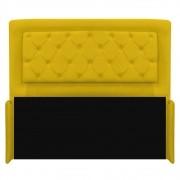Cabeceira Estofada Laguna 190 cm King Size Com Capitonê Corano Amarelo - ADJ Decor