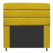 Cabeceira Estofada Turim 160 cm Queen Size Suede Amarelo - ADJ Decor