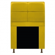 Cabeceira Munique 90 cm Solteiro Corano Amarelo - ADJ Decor