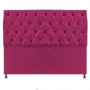 Cabeceira Sofia 140 cm Casal Suede Pink - ADJ Decor