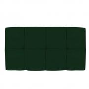 Cabeceira Suspensa Nina 100 cm Solteiro Suede Verde - ADJ Decor