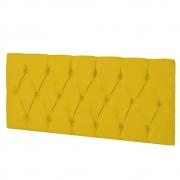 Cabeceira Suspensa Paris 140 cm Casal Corano Amarelo - ADJ Decor