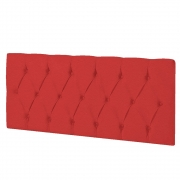 Cabeceira Suspensa Paris 140 cm Casal Corano Vermelho - ADJ Decor