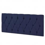 Cabeceira Suspensa Paris 90 cm Solteiro Corano Azul Marinho - ADJ Decor