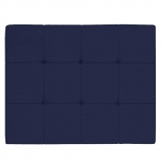 Cabeceira Suspensa Sleep 100 cm Solteiro Corano Azul Marinho - ADJ Decor