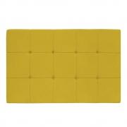 Cabeceira Suspensa Sleep 140 cm Casal Suede Amarelo - ADJ Decor