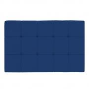 Cabeceira Suspensa Sleep 140 cm Casal Suede Azul Marinho - ADJ Decor