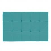 Cabeceira Suspensa Sleep 140 cm Casal Suede Azul Turquesa - ADJ Decor