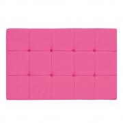 Cabeceira Suspensa Sleep 140 cm Casal Suede Pink - ADJ Decor