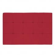 Cabeceira Suspensa Sleep 140 cm Casal Suede Vermelho - ADJ Decor