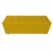 Calçadeira Estofada Manchester 140 cm Casal Corano Amarelo - ADJ Decor