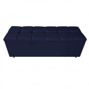 Calçadeira Estofada Manchester 140 cm Casal Corano Azul Marinho - ADJ Decor