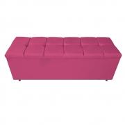 Calçadeira Estofada Manchester 140 cm Casal Corano Pink - ADJ Decor