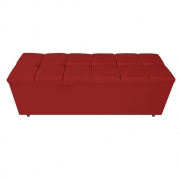 Calçadeira Estofada Manchester 140 cm Casal Corano Vermelho - ADJ Decor