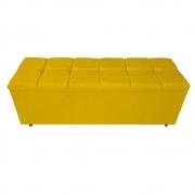 Calçadeira Estofada Manchester 140 cm Casal Suede Amarelo - ADJ Decor