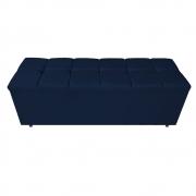 Calçadeira Estofada Manchester 140 cm Casal Suede Azul Marinho - ADJ Decor