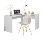 Escrivaninha de Canto Office Montreal D01 Branco - ADJ DECOR