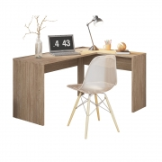 Escrivaninha de Canto Office Montreal D01 Nogal Touch - ADJ DECOR