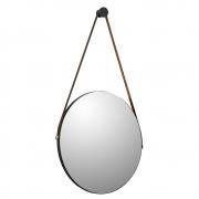 Espelho Redondo Decorativo Adnet Sunset Preto Fosco - ADJ Decor