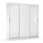 Guarda-Roupa Cecilia D01 3 Portas de Correr Branco - ADJ DECOR