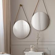 Kit 02 Espelhos Redondo Decorativo Adnet Sunset Malbec - ADJ Decor