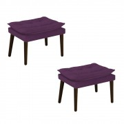 Kit 02 Puffs Apolo Palito Tabaco Suede Roxo - ADJ Decor