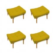 Kit 04 Puff Requinte Palito Mel Corano Amarelo - ADJ Decor