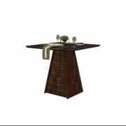 Mesa de Jantar 90X90 cm Dallas D04 Trufa/Preto Gloss - ADJ DECOR