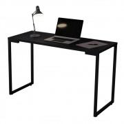 Mesa Escrivaninha Adele 120cm Para Escritório e Home Office Industrial Preto - ADJ DECOR