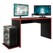 Mesa Gamer DRX 800 Xangai L01 Preto TX/Vermelho - ADJ DECOR