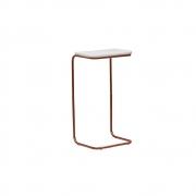Mesa Multiuso Sophie Aramado Bronze/Branco - ADJ Decor
