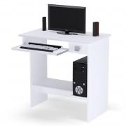 Mesa Para Computador com Gaveta Branco - ADJ DECOR