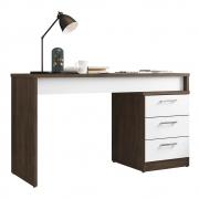 Mesa Para Escritório Soly L01 Avelã/Branco - ADJ DECOR