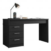 Mesa Para Escritório Soly L01 Preto Velluto - ADJ DECOR