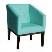 Poltrona Rafa Suede Azul Tiffany - ADJ DECOR
