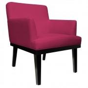 Poltrona Vitória Suede Pink - ADJ Decor
